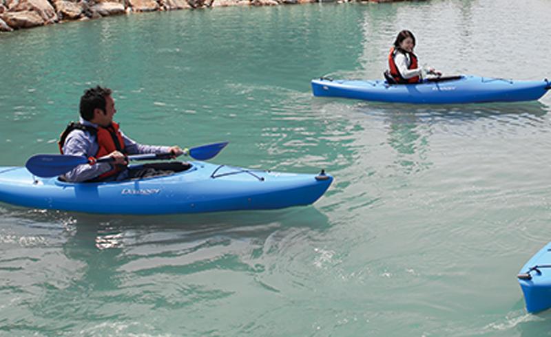 カヌー体験池